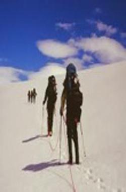 Passage through the Patagonic ice field